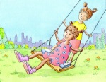 Girls on Swing